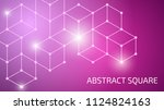 vector abstraction with color... | Shutterstock .eps vector #1124824163