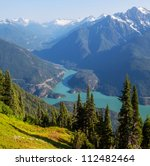 Diablo Lake,Washington - stock photo