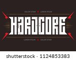 hardcore   music poster or t... | Shutterstock .eps vector #1124853383