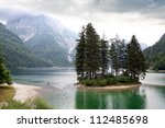 Lake Predil. Province Udine.Italy - stock photo
