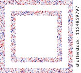 square frame of confetti in... | Shutterstock .eps vector #1124859797