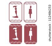 vector secession restroom... | Shutterstock .eps vector #112486253