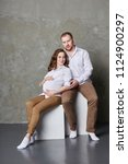 couple is expecting a baby.... | Shutterstock . vector #1124900297