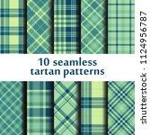 set of seamless tartan patterns | Shutterstock .eps vector #1124956787