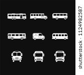 bus icon vector solid logo... | Shutterstock .eps vector #1124982587