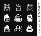 backpack icon vector  stylized... | Shutterstock .eps vector #1124984423