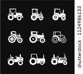 tractor icon vector  symbol ... | Shutterstock .eps vector #1124986133