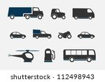 transportation icon | Shutterstock .eps vector #112498943