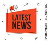 latest news  vector red sign... | Shutterstock .eps vector #1125003107