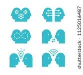 flat design icons set of... | Shutterstock .eps vector #1125016487
