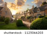bourton on the hill village... | Shutterstock . vector #1125066203