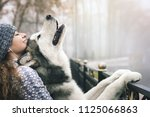 image of young girl with her...   Shutterstock . vector #1125066863