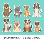 sticker collection of different ... | Shutterstock .eps vector #1125104903