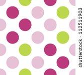 seamless three color girls...   Shutterstock .eps vector #112511903