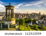 Beautiful view of the city of Edinburgh - stock photo