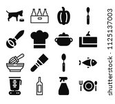 filled food icon set such as... | Shutterstock .eps vector #1125137003