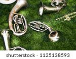several ancient musical wind... | Shutterstock . vector #1125138593