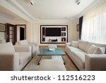 interior of a modern living... | Shutterstock . vector #112516223
