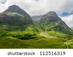 Mountain view in Scotland in the Glencoe - stock photo
