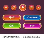 game ui set of buttons. gui...