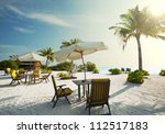 Maldives serenity - stock photo
