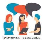 people talking  businessmen... | Shutterstock . vector #1125198833