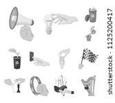 manipulation by hands... | Shutterstock .eps vector #1125200417