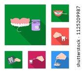 manipulation by hands flat... | Shutterstock .eps vector #1125209987