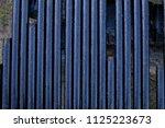 oil drill pipe. rusty drill... | Shutterstock . vector #1125223673