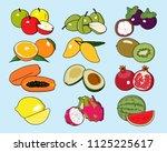 set of fruit icons  apple ...   Shutterstock .eps vector #1125225617