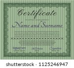 green certificate template or... | Shutterstock .eps vector #1125246947
