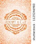 adopt a cat orange mosaic... | Shutterstock .eps vector #1125246983