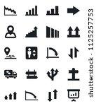 set of vector isolated black... | Shutterstock .eps vector #1125257753