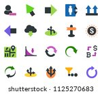colored vector icon set  ... | Shutterstock .eps vector #1125270683