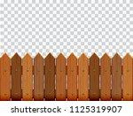 picket fence  wooden textured ...   Shutterstock .eps vector #1125319907