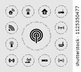 wifi icon. collection of 13... | Shutterstock .eps vector #1125350477