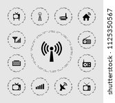 antenna icon. collection of 13...   Shutterstock .eps vector #1125350567