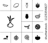 vegetarian icon. collection of... | Shutterstock .eps vector #1125354827