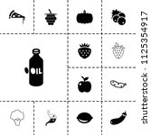 vegetarian icon. collection of... | Shutterstock .eps vector #1125354917