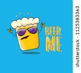 beer me vector concept...   Shutterstock .eps vector #1125383363