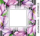 wildflower magnolia flower... | Shutterstock . vector #1125398813
