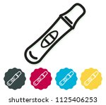 pregnancy test icon as eps 10... | Shutterstock .eps vector #1125406253