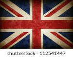 grunge great britain flag as an ... | Shutterstock . vector #112541447