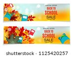 abstract  illustration back to... | Shutterstock . vector #1125420257
