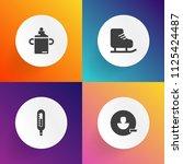 modern  simple vector icon set... | Shutterstock .eps vector #1125424487
