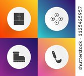 modern  simple vector icon set... | Shutterstock .eps vector #1125425957