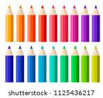 big collection of colored...   Shutterstock .eps vector #1125436217