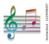 music violin clef sign. g clef... | Shutterstock .eps vector #1125458207