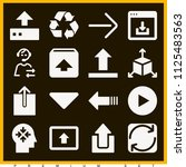 set of 16 arrows filled icons... | Shutterstock . vector #1125483563