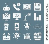 technology icon set   filled... | Shutterstock .eps vector #1125493763